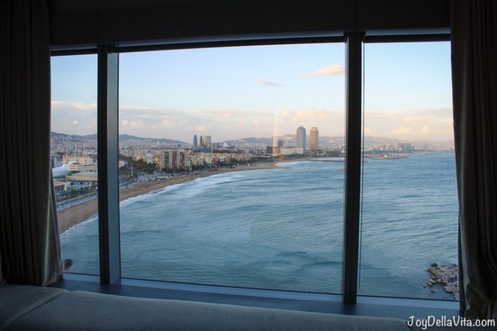 View from W Hotel in Barcelona