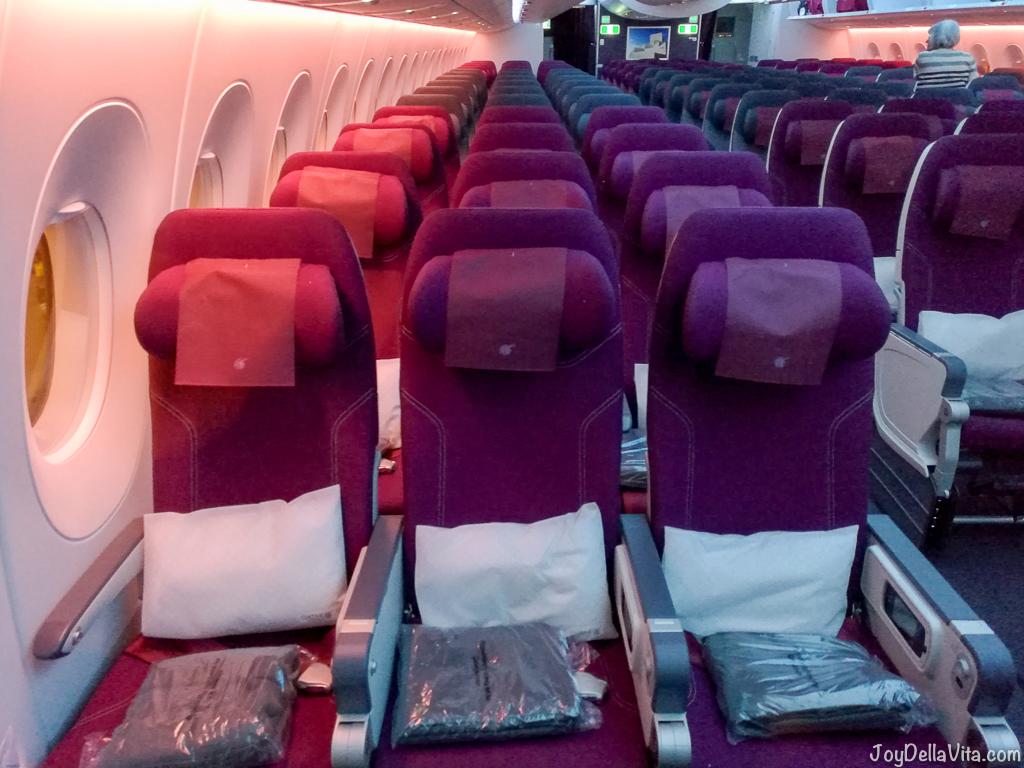 Qatar Airways Doha Adelaide Economy Class JoyDellaVita