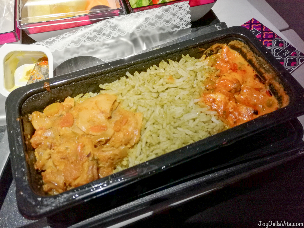 Qatar Airways Vegetarian Dinner