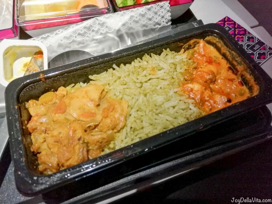 Qatar Airways Vegetarian Dinner