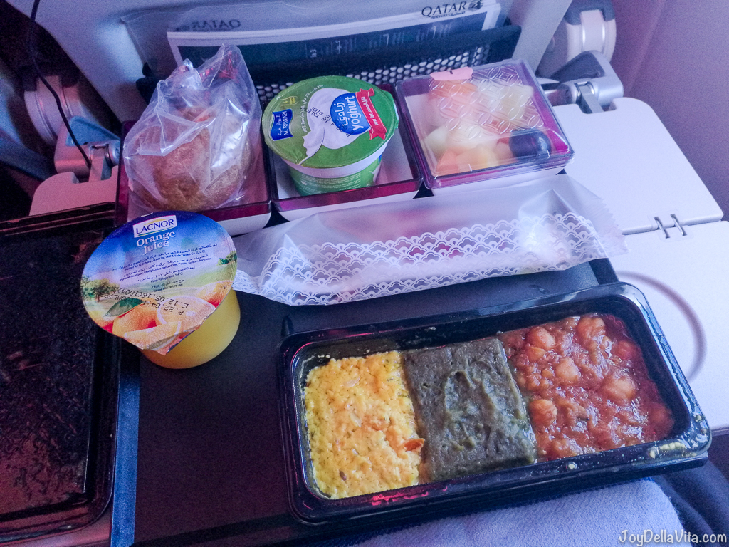 Qatar Airways Vegetarian Breakfast