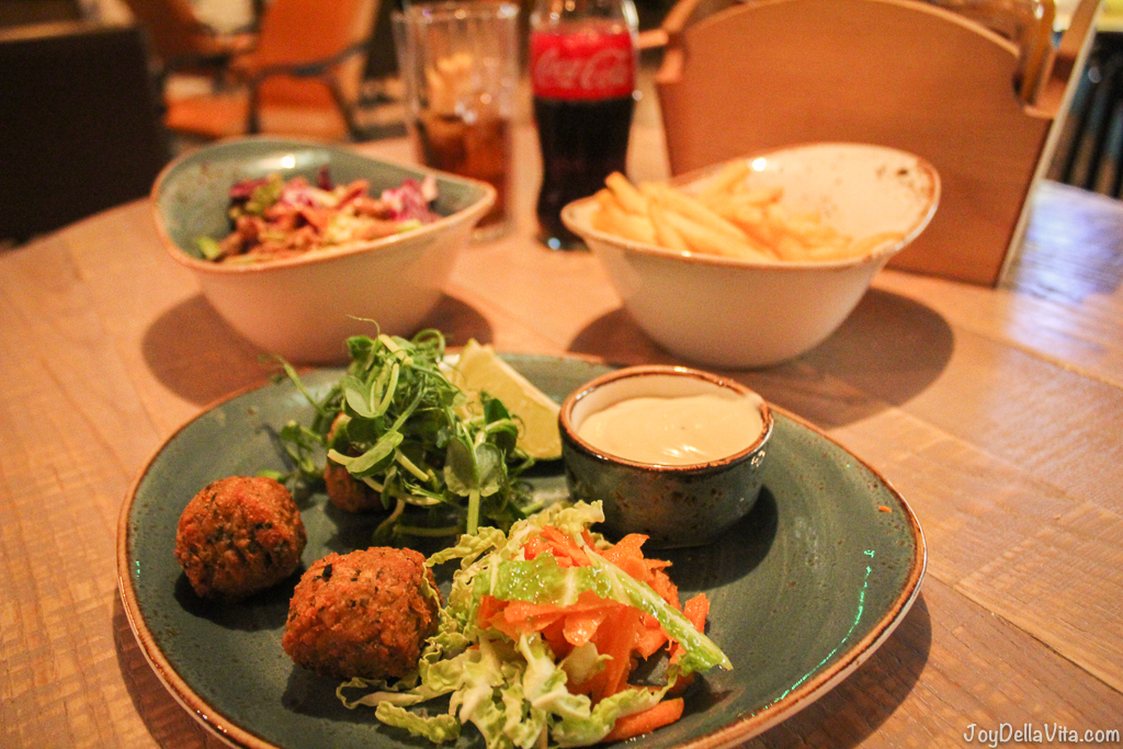 Hand-Shaped Falafel with Lemon Tahini Dressing Jamboree Manchester JoyDellaVita