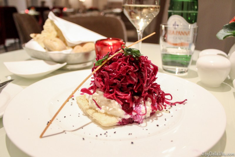 Tacos Burrata Cabbage Hotel Restaurant NH Collection Roma Palazzo Cinquecento
