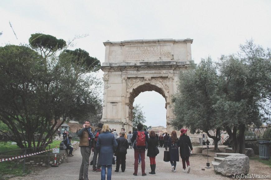 Arch of Titus Arco di Tito Roman Forum Rome Winter JoyDellaVita
