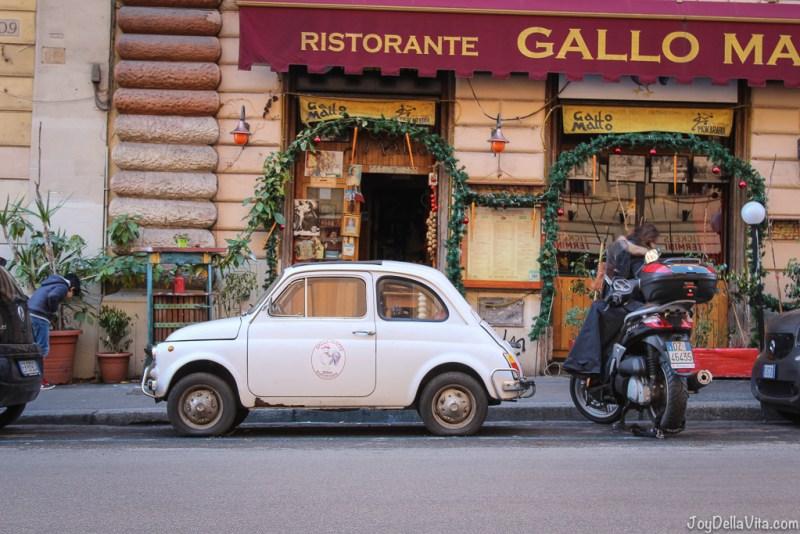 vintage Fiat 500 Vespa small Cars Rome joyDellaVita
