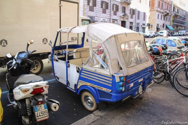 rental Ape Calessino Vespa small Cars Rome joyDellaVita