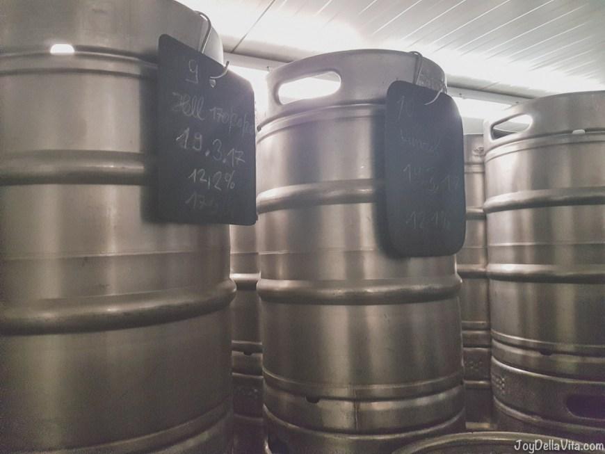 50l beer barrels Brewery Tour Schöre Tettnang Lake Constance JoyDellaVita