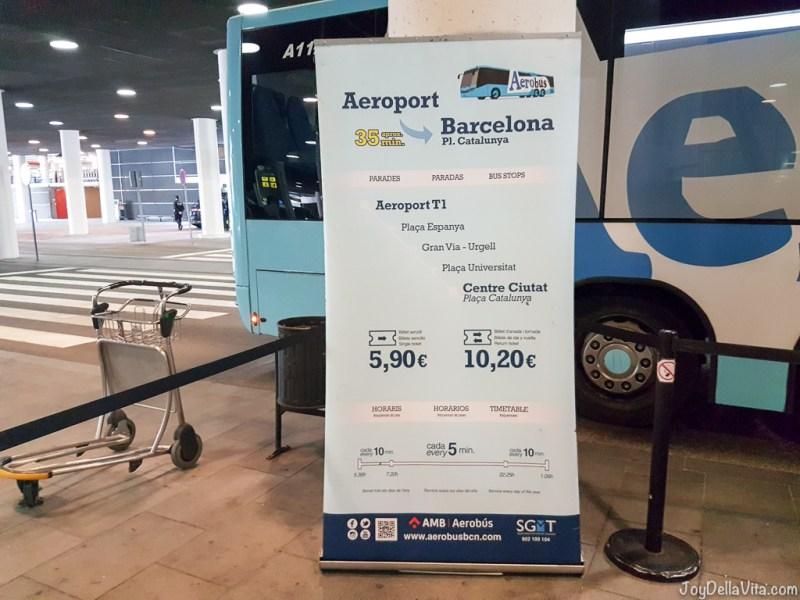 Aerobus Barcelona Tickets Price Travelblog JoyDellaVita