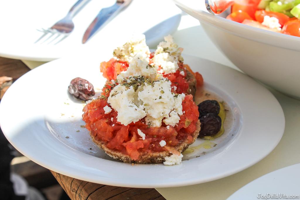Recipe Dakos Crete Greece Travelblog JoyDellaVita