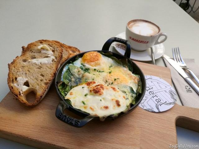 eggs florentine cappuccino at federal barcelona JoydellaVita