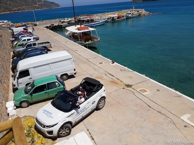 Where to park in Plaka, during Land Rover Experience Greece