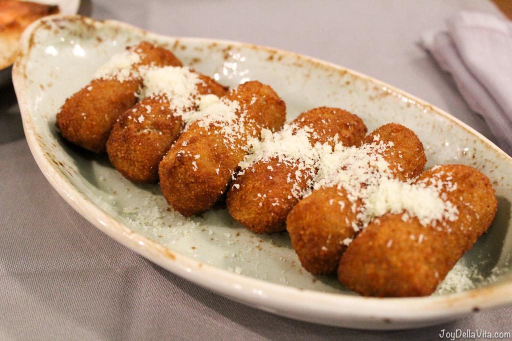 cheese and walnut croquettes Mussol Arago Tapas Barcelona Casa Battlo -  JoyDellaVita.com