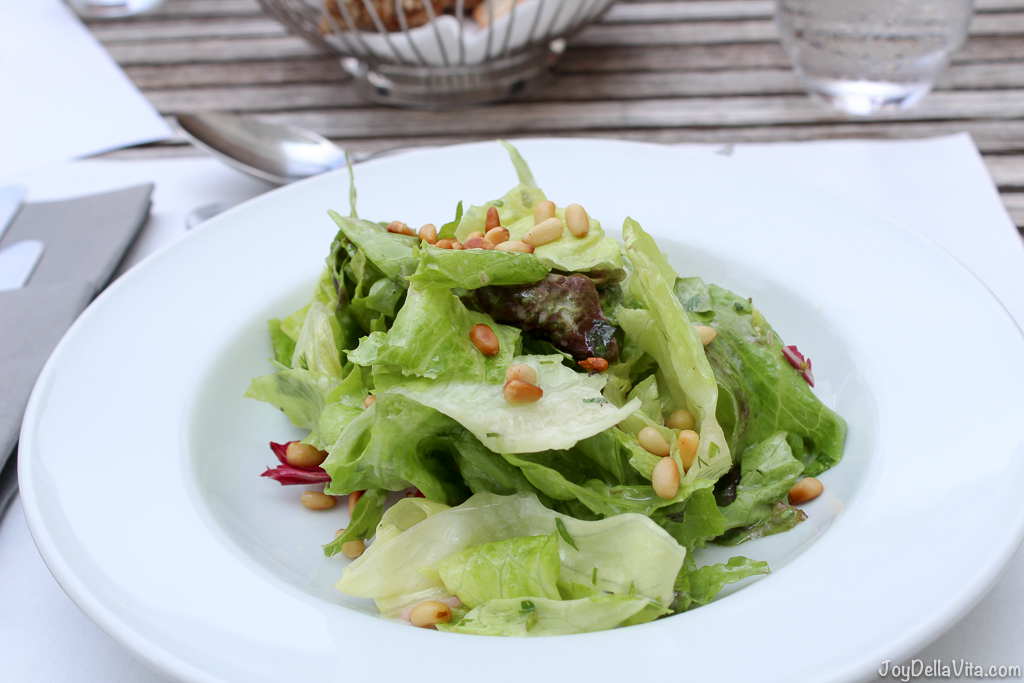 Lettuces from the castle garden with French dressing -- Organic Restaurant Castle Wartegg Rorschacherberg - JoyDellaVita.com