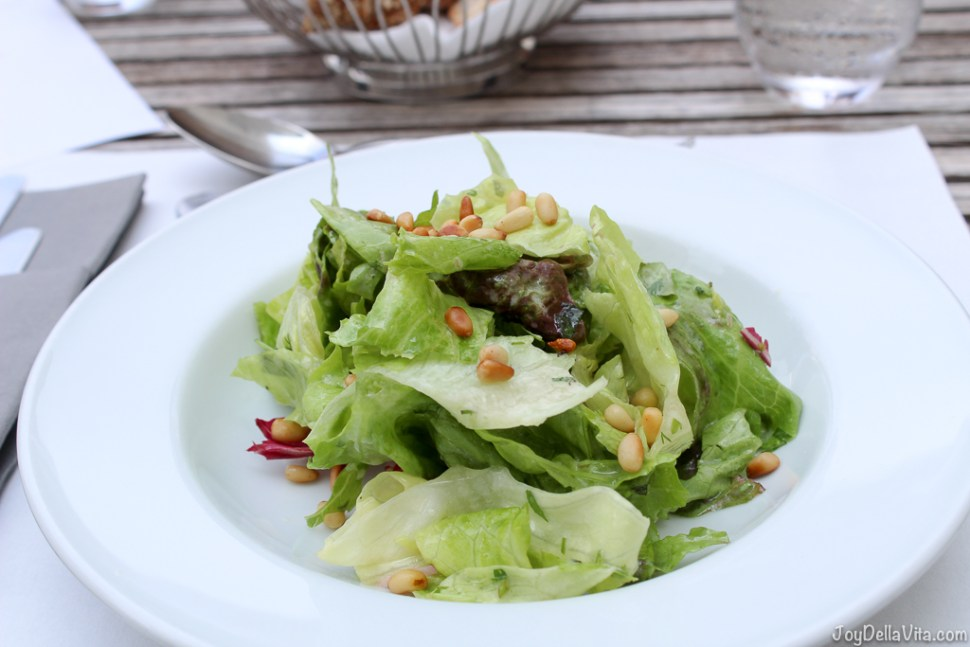 Lettuces from the castle garden with French dressing -- Organic Restaurant Castle Wartegg Rorschacherberg - JoyDellaVita.com