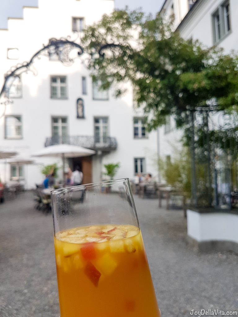 alcohol-free punch with local fruits at Castle Wartegg in the summer - Organic Restaurant Castle Wartegg Lake Constance St Gallen - JoyDellaVita.com