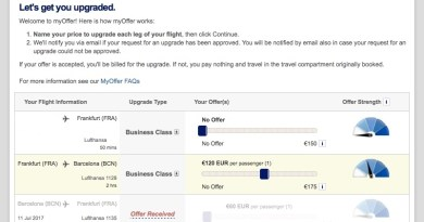 Lufthansa myOffer BusinessClass JoyDellaVita