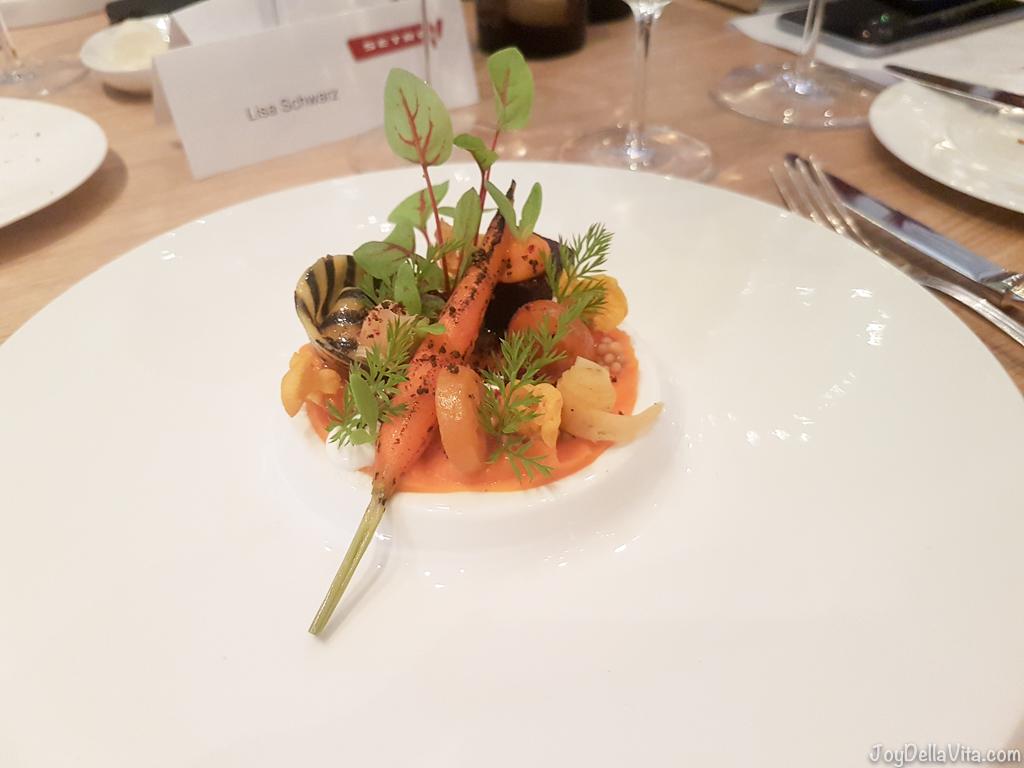variations of carrot --  Michelin Top Air Restaurant Stuttgart Airport - JoyDellaVita.com