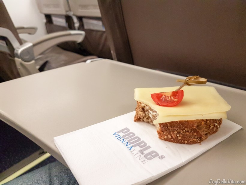 People's Viennaline Flight Review Embraer 170 - Travelblog JoyDellaVita.com