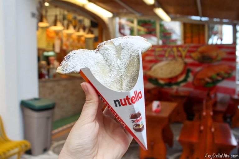 Nutella Crepe in Riccione at Viale Dante