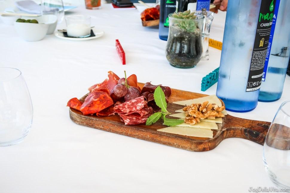 spanish tapas for Lunch at Cotton Beach Club Ibiza