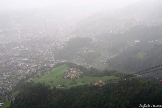 Dornbirn in the rain Karren cable car Dornbirn Vorarlberg