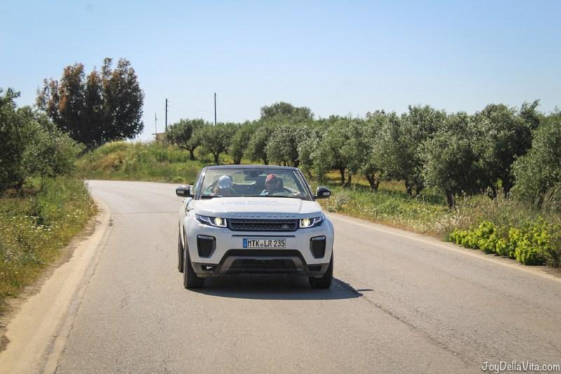 Range Rover Evoque Convertible Land Rover Experience Greece Tour 3 Crete Travelblog JoyDellaVita