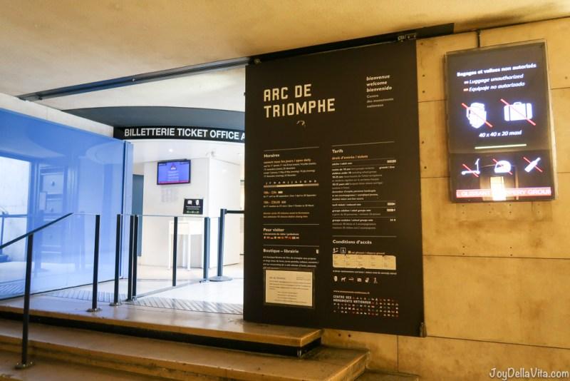 Arc de Triomphe Paris ticket office at Place Charles de Gaulle