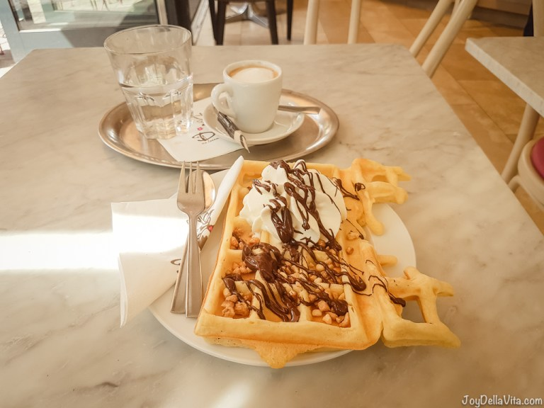 Belgian Waffles in Cologne at Dulce Chocolate & IceCream