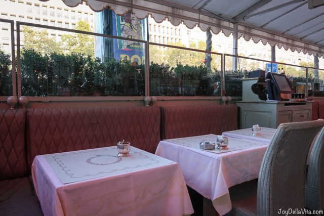 Outdoor Terrace at Laduree on Champs Elysees