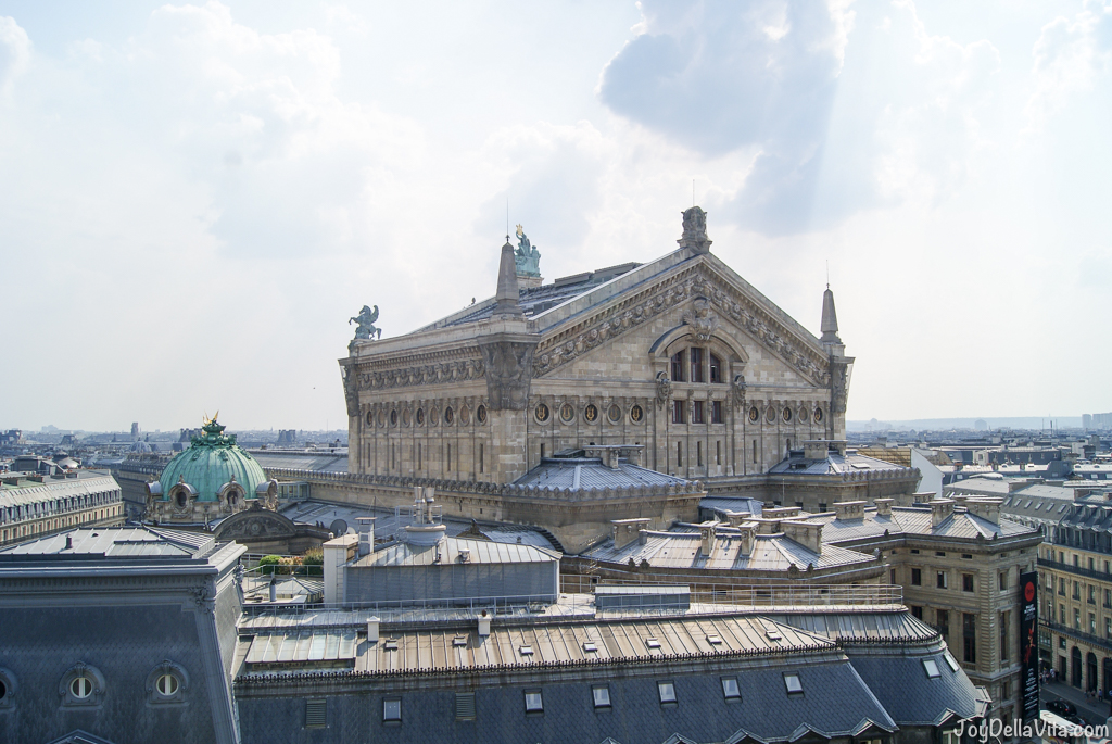 The Opera as seen from the 7th floor terrace at galeries lafayette paris Panorama Terrace Galeries Lafayette Paris 7th floor Travel Blog JoyDellaVita