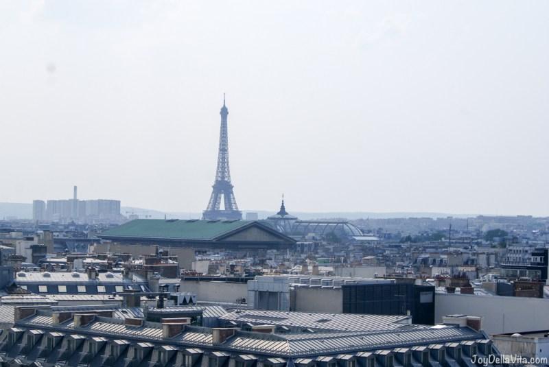 the iconic eiffel tower! Panorama Terrace Galeries Lafayette Paris 7th floor Travel Blog JoyDellaVita