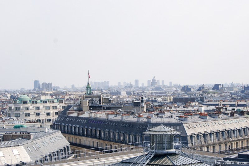 Panorama Terrace Galeries Lafayette Paris 7th floor Travel Blog JoyDellaVita