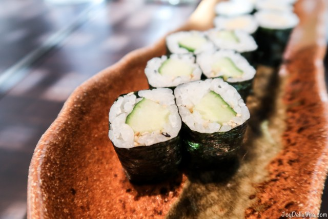 tamago maki with sweet omelet & kappa maki with cucumber - moriki sushi baden-baden roomers hotel restaurant travel blogger joydellavita