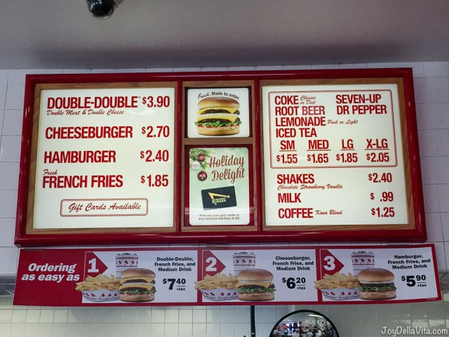 In-N-Out Menu Prices 2017 2018 Los Angeles
