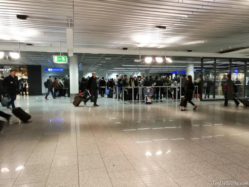 Security Checks Passport Controll Frankfurt Airport USA Los Angeles