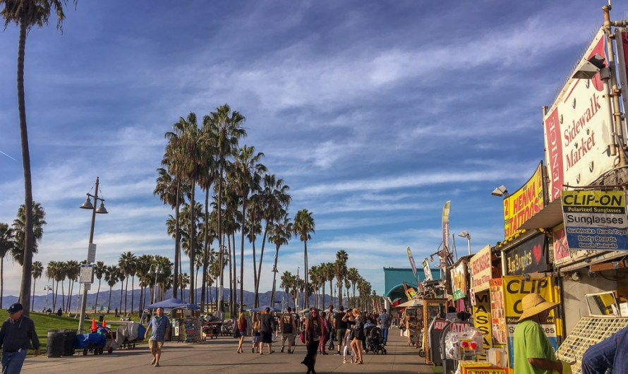 Day Trip to Venice Beach, walking along the Beach in December