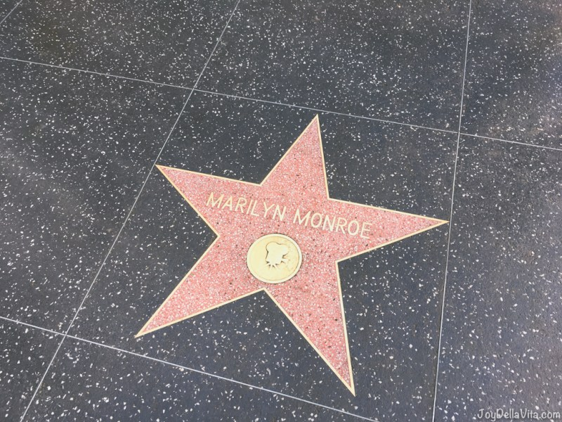 Marilyn Monroe Star on Walk of Fame, December 2017