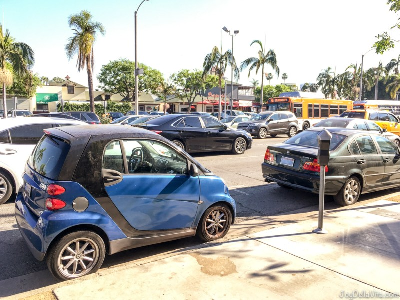 smart fortwo Los Angeles West Hollywood curbside parking