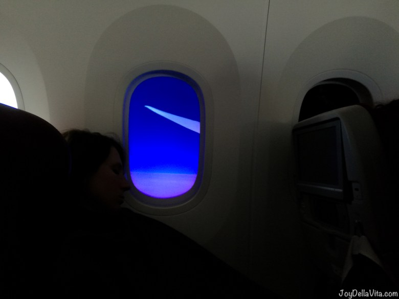 Boeing 787 Dreamliner dimming window