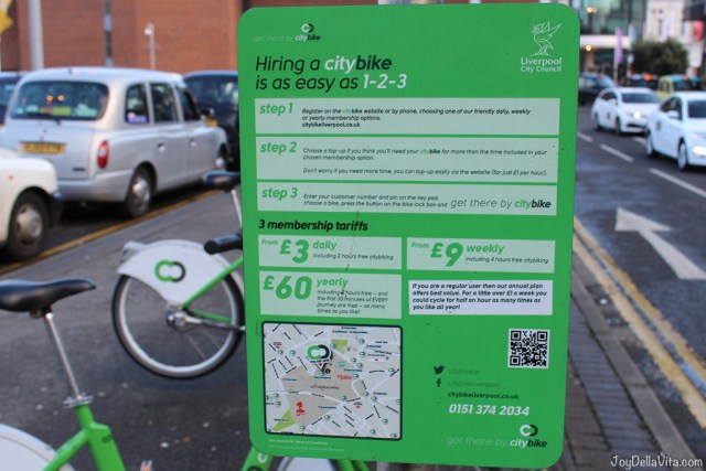 How to rent a City Bike in Liverpool