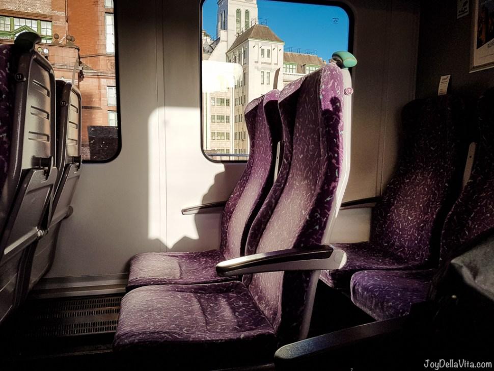 Seats inside a Northern Line Train