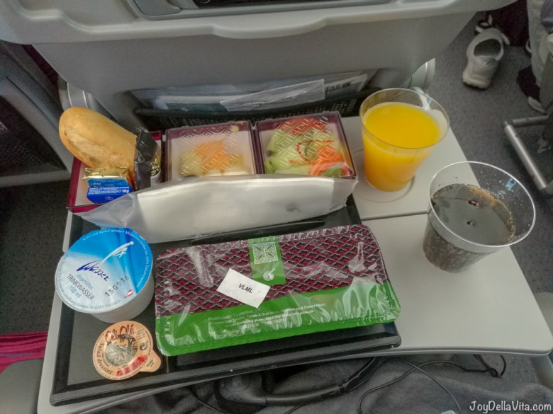 Qatar Airways Boeing Economy Class Hot Meal VLML (Vegetarian)