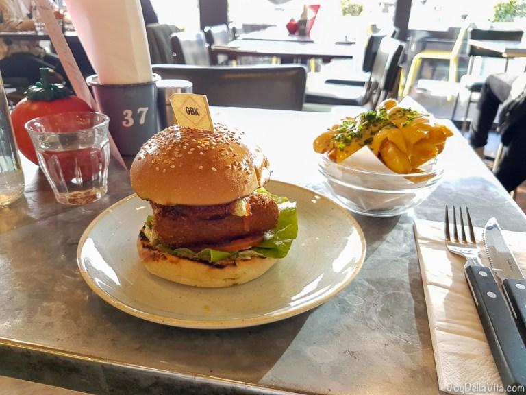 Veg Out Burger at Gourmet Burger Kitchen Liverpool