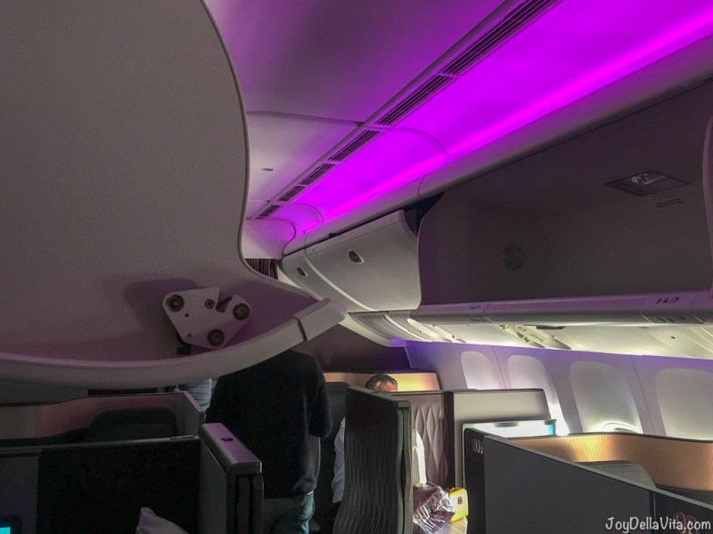 Boeing 777 Business Class overhead storage compartment