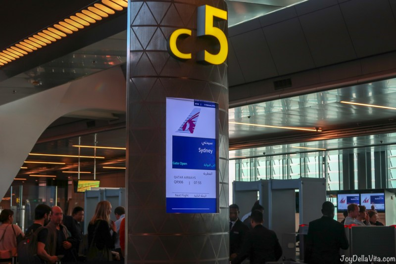 Doha Airport Boarding Gate at Hamad International Airport C5 to Sydney / Canberra