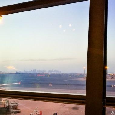Doha Skyline Hamad International Airport Qatar Airways