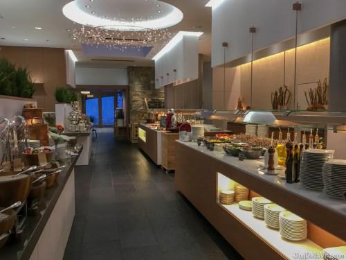 Kempinski Berchtesgaden Breakfast Buffet on the ground floor