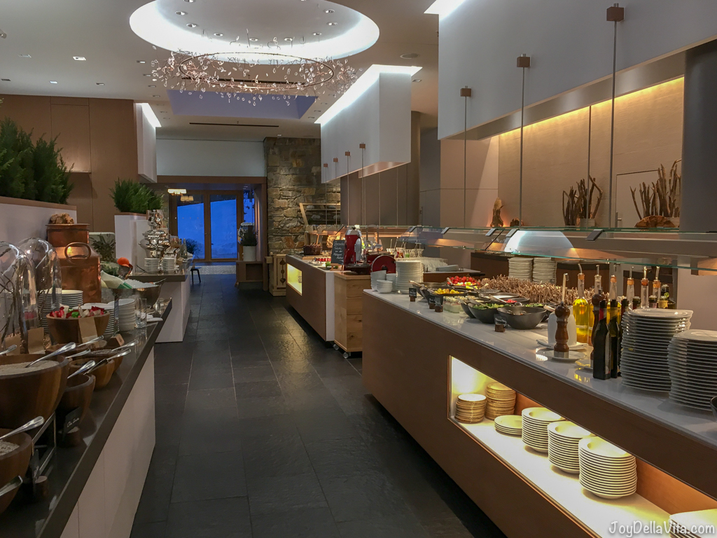 Kempinski Berchtesgaden Breakfast Buffet on the ground floorat the Restaurant Johann Grill