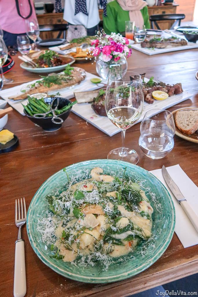 Potato Gnocchi, King Mushroom, Mascarpone, Parmesan Pialligo Estate Canberra