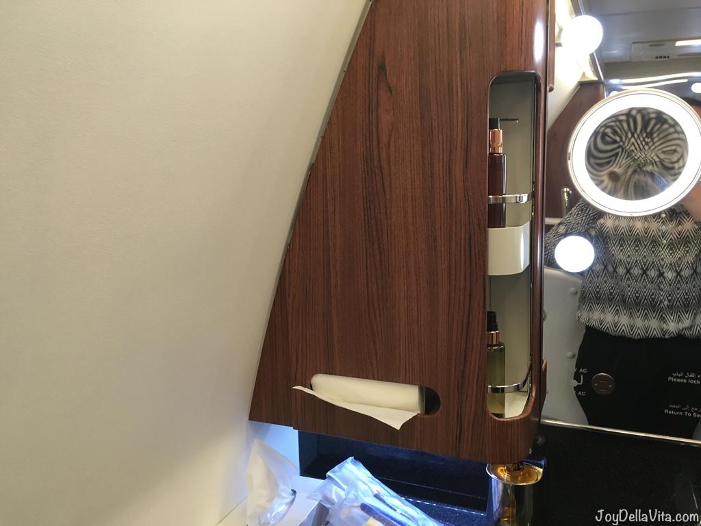 Qatar Airways QSuite Business Class Bathroom Amenities